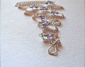 Sterling Silver and Amethyst Beaded Chain Necklace