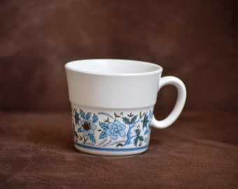 Noritake Blue Moon Cup/ Progression Coffee Mug/Flat Bottom 8 oz. China Mug/1969-1980