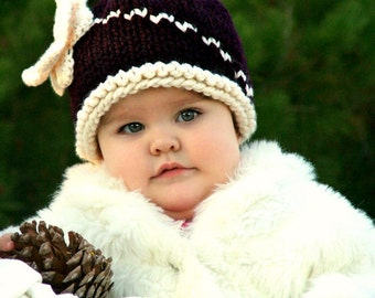 The Butterfly Hat Knitting Pattern - (Infant, Baby, Toddler)