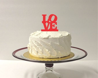 MADE In USA, Love Wedding Cake Topper, Wedding Love Cake Topper, Acrylic Wedding Topper, Classic Wedding Cake Topper, Wedding Keepsake
