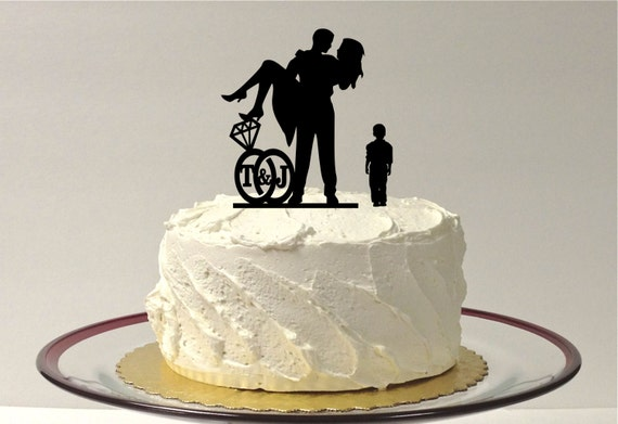 Design Your Wedding Cake Topper : Items similar to BOY CHILD + Bride + Groom PERSONALIZED ...