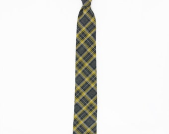 Dan - Yellow/Charcoal Gray Men's Tie