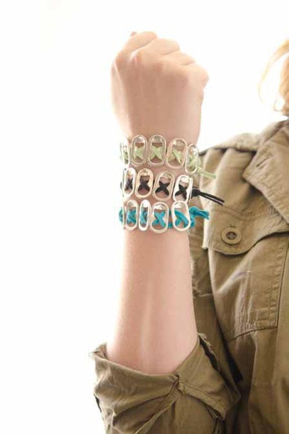 Items similar to Green Pop Tab Bracelet, Kristen Stewart ...