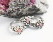 Ready to ship / NUSTA  - Rosa Inca Collection - Rhodochrosite Ring - Sterling Silver - ooak , alternative engagement ring, size 5, 6, 7