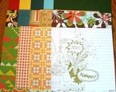 "Scrapbook Kit - ""Rainbow Brite"" - 12""x12"" size bold primary colors"