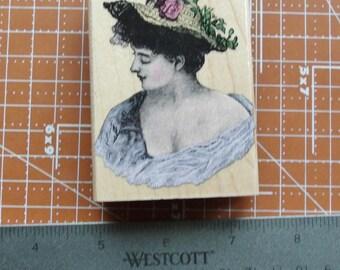 Romantic Portrait Rubber Stamp by Hero Arts G2506