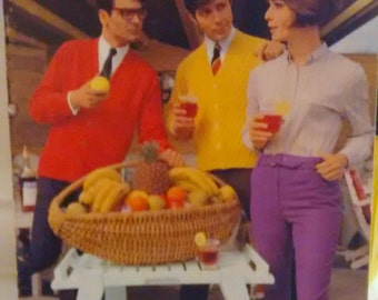 1967 Vintage Spinnerin 'Gentlemen Prefer' Knit Pattern Book