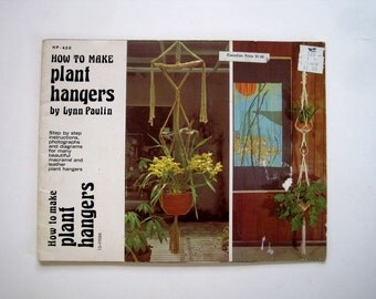 Making Plant Hangers - Macrame Instruction Book - Patterns for Knotting Leather Plant Hangers