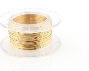 28 Gauge Gold - Enamel Copper Wire - 15 yard spool.