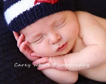 15% off SALE   Newborn photo prop, newborn hat, newborn boy, newborn girl, knit newborn hat, newborn props, newborn anchor beanie