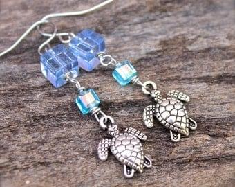Sea Turtle Earrings - Hawaiian Honu Jewelry - Sea Turtle Jewelry from Hawaii - Hawaiian Honu Earrings - Hawaiian Jewelry - Beach Earrings