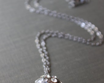 Crystal Rhinestone Ball Necklace
