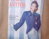 Vintage 40's Knitting Pattern Books, Set of Three, Knit Patterns for Men, Women, Children, Baby,  Set B