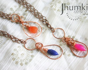COPPER Sakhi till Infinity /// Made to order Signature Infinity BRIDESMAIDS Necklaces by Jhumki - designs by raindrops