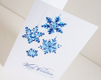 Winter Wonderland Snowflake Christmas Card Set
