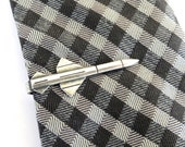 Missile Tie Bar- Sterling Silver & Antiqued Brass Finishes- Gifts For Men- Groomsmen Gifts