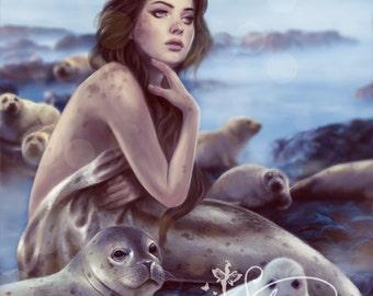 Selkie 8x10 Art Print by Selina Fenech