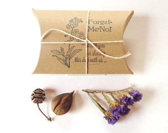 Bridal Shower Favors. Garden Shower. Forget-Me-Not Seeds. Set of 10. Ready to Ship.