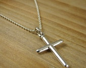 Cross Necklace For Him, Cross Pendant for Men, Sterling Silver