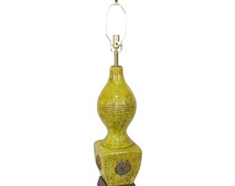 Zaccagnini Italian Pottery Lamp . Hollywood Regency . XL Size . Chinoiserie