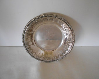 Reed and Barton, Silver Plate Bowl, #202 , Vintage,  Home Entertaining,  Home Decor,  Wedding,  Jewelry  #4456