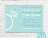 Engagement Ring Bridal Shower Invitation - Printable