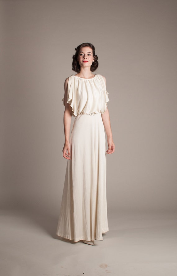 1930s style wedding dress vintage 70s does 30s wedding dress ForWedding Dress 30s Style