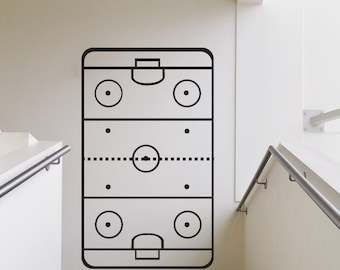 Vinyl Wall Art Decal Sticker Hockey Coach Play Board 1319B