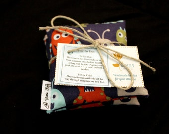 Handwarmers BooBoo Bags Set of Two Many Fabric Choices Children's BooBoo Bag Small Rice Bag First Aid Rice Bag