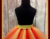 Fuego - Red, Orange, and Yellow Tutu - Fits Sizes 6 months-Adult