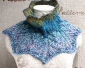 PATTERN for DIY Elf Diagonal Rib Cowl to knit with medium weight windings - WrapturebyInese