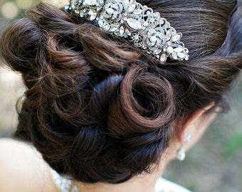 Bridal hair comb Pearl Rhinestone Hair Comb Bridal Pearl Rhinestone Hair Comb Wedding Rhinestone Hair Comb Ivory swarovski Pearls ROSELANI