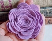 Felt flower, handmade flower, lilac flower, lavender flower, wool felt flower, headband supplies, embellishment, photo prop, felt roses