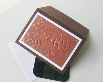 Gift Card Holder: Autumn, Blank & Handmade - Cinnamon Kisses
