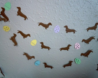 Dachshund Easter Paper Garland - Choose Your Colors