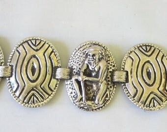 Seva Regdes tribal Silver paneled Bracelet