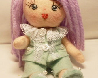 "NEW-Mini Articulated  "" Doll Samantha "" _Instant Download -Art Doll  E-tutorial -Pattern PDF Diy"