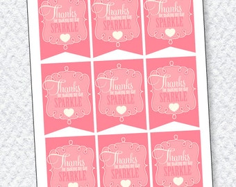 Princess Party PRINTABLE Favor Tags from Love The Day