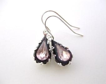 Amethyst Jewels in Silver- Two Tone Rhinestone