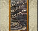 Ricefields at Dawn - Fine Art Printon heavy Cotton Canvas - unframed