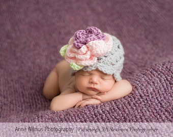 Baby Girl Hat, Newborn Hat, Baby Hat, Baby Girl, Coming Home Outfit, Photo Prop, Crochet Hat, Photography Prop, Crochet Baby Hat, Baby Gift