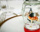 Vintage style handmade diorama snow globe. Waterless winter scene. - MademoiselleChipotte
