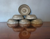Vintage French Tins, set of six forms, molds