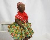 Black Americana Rag Doll, Vintage Toy, Handmade, Primitive, Folk Art