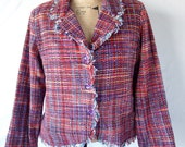 80's Tweed Purple Blazer by Anage