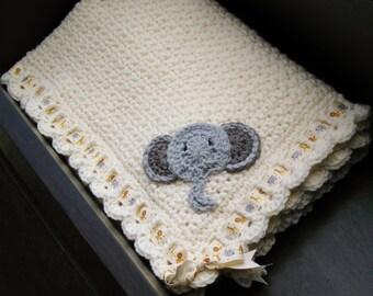 Jungle Animals Baby Blanket, Noah's Ark Blanket, Safari Theme, Unisex Baby Gift, Beautiful Baby Shower Gift, Personalized Baptism Gift