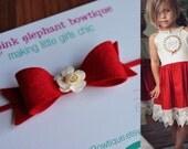 M2M Joy Dress-M2M Daydream Line-Baby Headband-Newborn Headband-Photo Prop-M2M Well Dressed Wolf-Red Headband-M2M WDW-Christmas-KIB-Joy-WDW