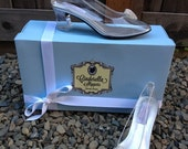 Cinderella Heart Glass Slipper Style Adult Costume Pair Pumps Heels Shoes Custom Made