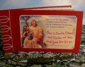 Sunday School Guest Book Journal w/Vintage Postcard Jesus Cover