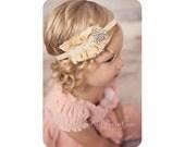 Baby Headband | Christmas Vintage Headband | Silk Headband | Newborn Headband | Baby Photo Prop | Couture Headband  | NO.353